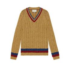 cable sweater lurex cable knit sweater gucci s sweaters cardigans
