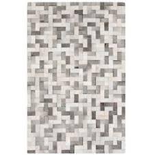 Grey Cowhide Rug Ritu Rustic Modern Hexagon Grey Ivory Cowhide Rug 3 U00276x5 U00276