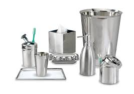 Discount Bathroom Accessories by Amazon Com Nu Steel Gloss Collection Bathroom Accessories Set 8