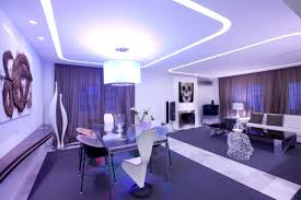 living room luxury ceiling hanging lamp vertical folding curtain