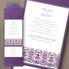 Wedding Invitation Pocket Ornate Heart Wedding Invitation Pocket Tab Little Flamingo