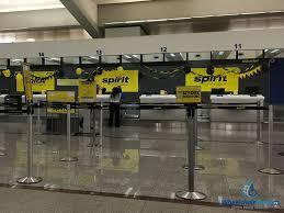 photo spirit airlines check in desk at atlanta airport