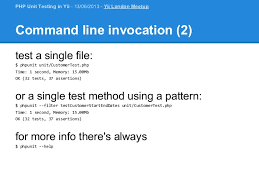 command pattern unit test php unit testing in yii