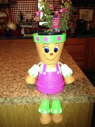 pot garden ornaments minion flower pot terra cotta