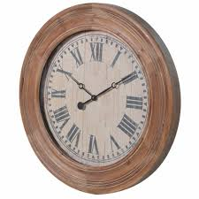 large wooden wall clock mo s