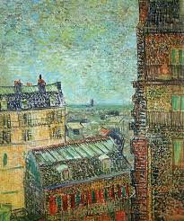 while his neighbors on the rue lepic noticed only the sooty view of paris from vincent s room in the rue lepic vincent van gogh 1887 place of creation paris france style post impressionism genre cityscape