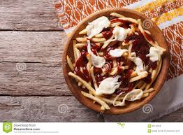 cuisine canada canadian cuisine poutine with sauce and cheese horizontal top
