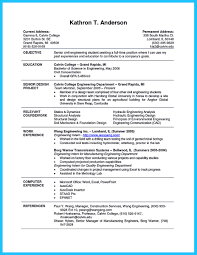 college student resume engineering internships best current college student resume with no experience