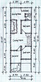 Wide House Plans by Two Story House Plans 5mx15m House Affair
