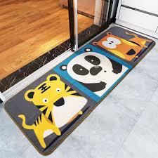teppich k che tiger panda hund bodenmatte 50x150 cm rutschfester teppich