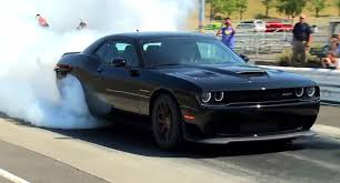 dodge challenger hellcat here s a challenger srt hellcat burnout to celebrate official