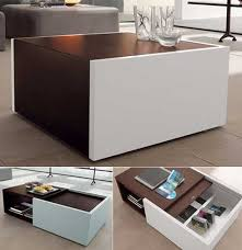 nature inspired furniture with cleverly integrated storage space