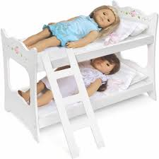 18 Inch Doll Bunk Bed Badger Basket White Rose Doll Bunk Bed Fits Most 18 Dolls My By