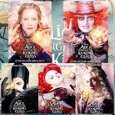 5 brand new movie poster from alice through the looking glass