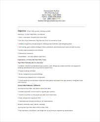 Resume For Iti Fitter Pipefitter Resume Template 6 Free Word Documents Download