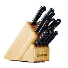 kitchen knives wusthof wusthof gourmet 13 slot knife block set 12 pc beechwood 9312