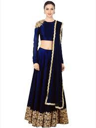 color designer blue color designer embroidered party wear lehenga choli designs