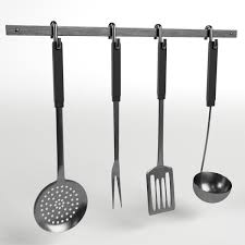 Kitchen Utensils And Tools by Kitchen Tools Utensils Rack By Francescomilanese 3docean