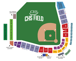 Map Of St Paul Mn St Paul Saints Professional Baseball Ballpark Map
