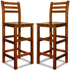 Wooden Bar Stool With Back High Back Stool Ebay