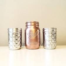 amazon com rose gold mason jar rose gold vase metallic