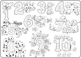 coloring placemats counting numbers coloring placemats for kids personalized kids