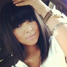 lob haircut with bangs 10 new black hairstyles with bangs popular haircuts