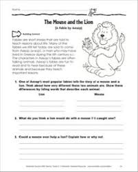 the lion and the mouse worksheets free worksheets library