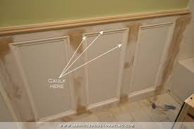 Wainscoting Over Tile Recessed Panel Wainscoting With Tile Accent U2013 Part 1