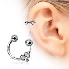 heart cartilage cartilage earring ebay