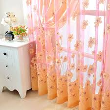 red and yellow sheer curtains luxury polyester