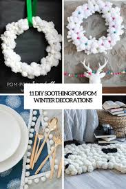 11 diy soothing pompom winter decorations shelterness