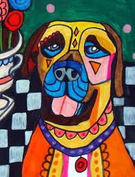 boxer dog art heather galler dog art boxer dog art