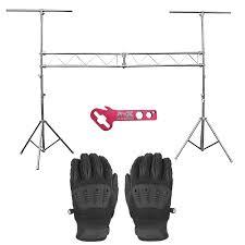 dj lighting truss package prox t ls31m 10ft truss system with onyx black gloves idjnow