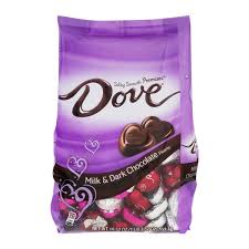 dove chocolate hearts dove chocolate hearts milk chocolate 19 52 oz from h e b