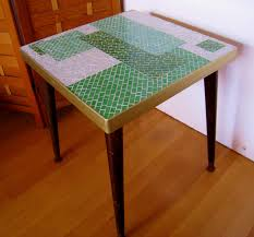 mid century modern gio ponti mosaic tiled table 120 00 via etsy