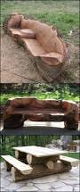 unique furniture made from tree stumps and logs aside from their