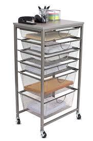 organization bins amazon com internet s best 6 tier rolling cart organizer 4 small