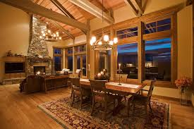 mountain mansion traditional dining room portland by