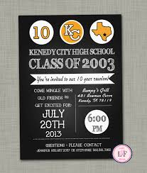 Examples Of Invitation Cards Kenedy City High Class Of 2003 Reunion Invitation Card