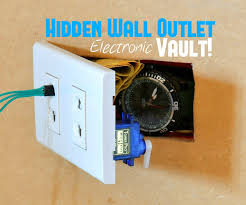 hidden wall outlet safe w arduino lock 9 steps with pictures