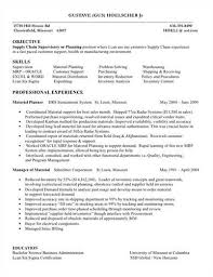 Supply Chain Management Skills For Resume Sample Supply Chain Manager Resume