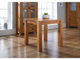 Country Oak Laminate Flooring Country Oak 80cm Square Chunky Corner Leg Dining Table