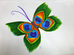 peacock feather butterfly by spiralraccoon on deviantart