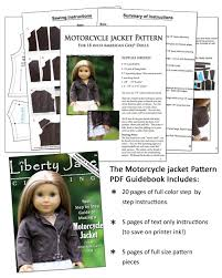 cloth moto jacket motorcycle jacket 18 inch doll clothes pattern pdf download