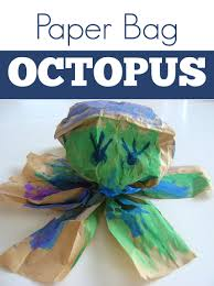 paper bag octopus craft for kids no time for flash cards