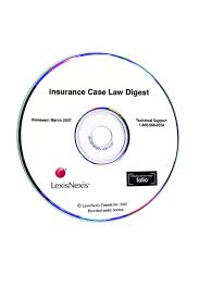 lexisnexis case search insurance case law digest on cd rom lexisnexis canada store