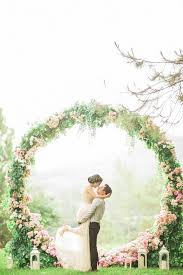 wedding backdrops picture of pink floral wreath for a backdrop
