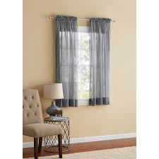Outer Space Window Curtains by Mainstays Marjorie Sheer Voile Curtain Panel Walmart Com
