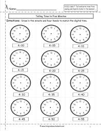 second grade time worksheets clock worksheets to minute math practice telling time printable